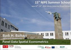 Picture of NIPE 15th Summer School - Panel Data Spatial Econometrics