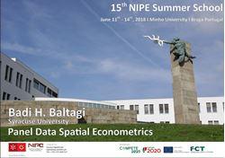 Imagens de 15º Curso de Verão NIPE - Panel Data Spatial Econometrics